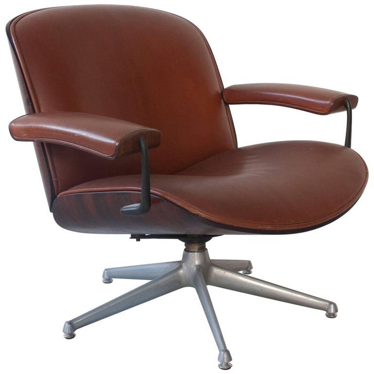 Iconic Rosewood Lounge Chair by Ico Parisi for MIM Roma