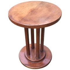 Jules Leleu Attributed, Little Gueridon in Mahogany, Art Deco Period