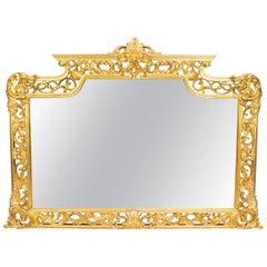 Decorative Large Ornate Italian Gilded Mirror