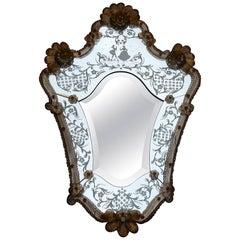 1950-1970  Romantic Mirror Murano Mr et Mme
