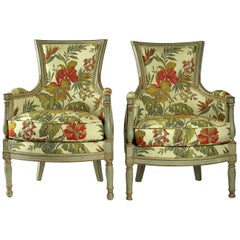 French Directoire Period Pair of Bergeres, circa 1798
