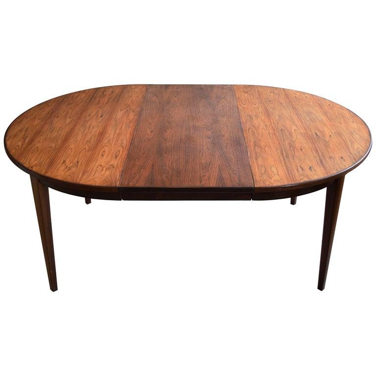 Gunni Omann Model 55 Rosewood Dining Table, Denmark, 1960s
