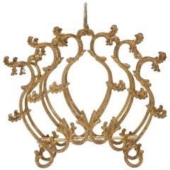 Gilded Copper Rococo Magazine Rack