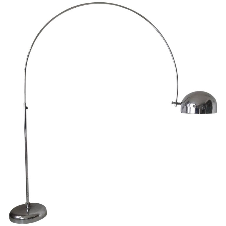 Large Arc Floor Lamp by Gepo Amsterdam, 1960s
