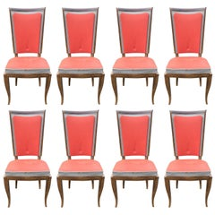 Set of Height Art Deco Chairs