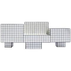 Contemporary TS I Limited Edition Lounge Seat with Tiles, Wood and Black Grout