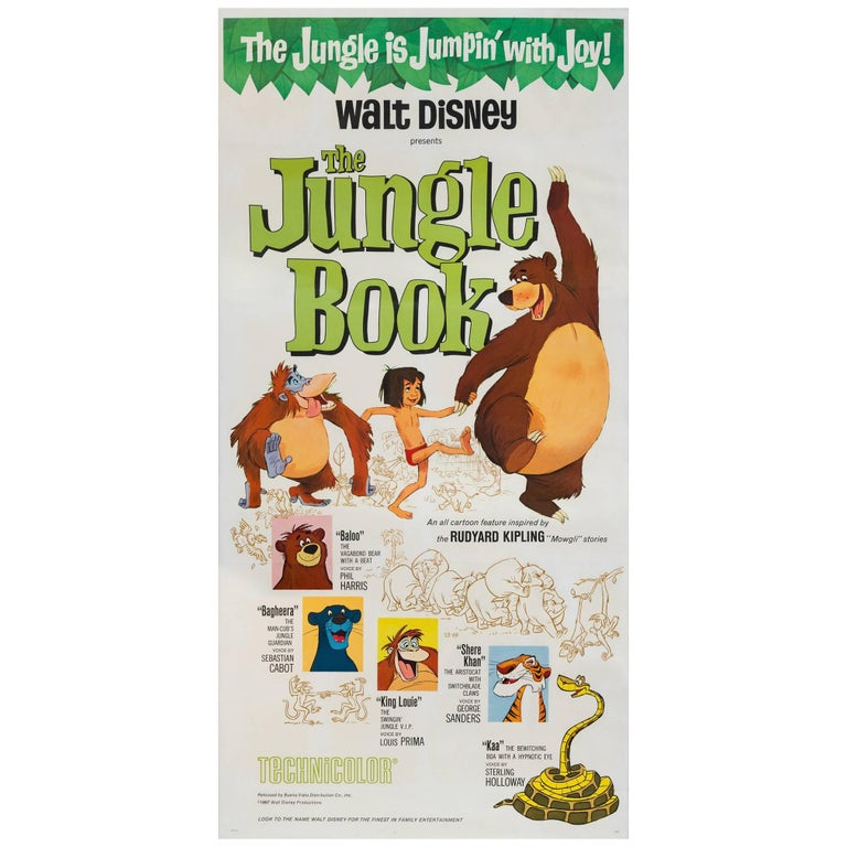 The Jungle Book US Film Poster, 1967