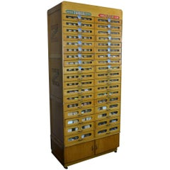 1950s Filled Haberdashery Cabinet Tubor, Tubca with 36 Drawers