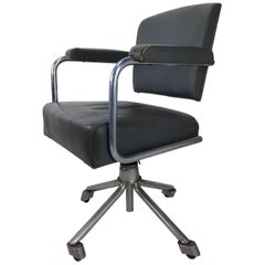 French Design and Bauhaus Style Office and Swivel Armchair