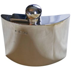 Victorian Silver Hip Flask by Sampson Mordan & Co Date 1916