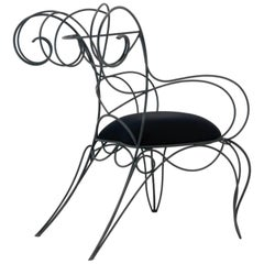 Ceccotti Ram Armchair Made of Iron Rod in 6 Different Color Options by Ceccotti