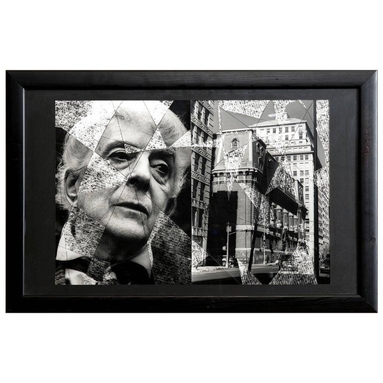 Quentin Crisp Black and White Photo Collage