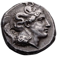 Ancient Greek Silver Distater Coin from Thurium , 400 BC, British Museum