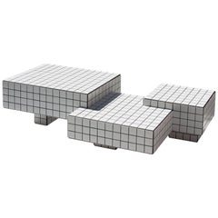 Contemporary TCT I Limited Edition Coffee Table with Tiles, Wood and Black Grout