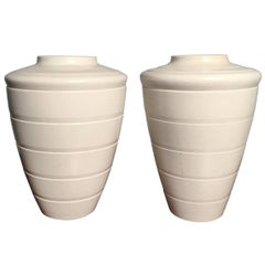 Pair of Keith Murray Tall Vases