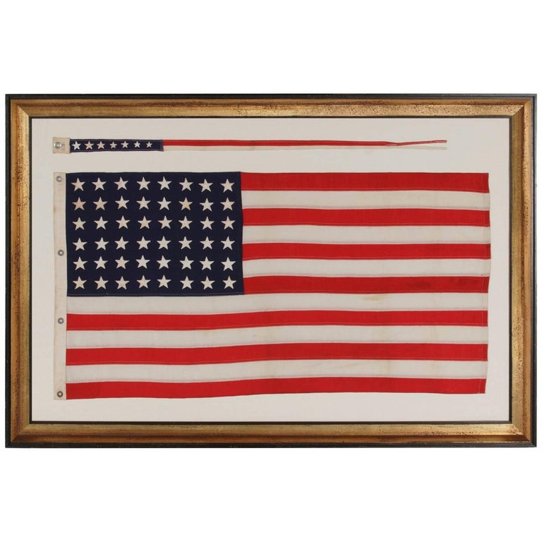 48 Star Flag and Matching Commissioning Pennant of the WWII Era