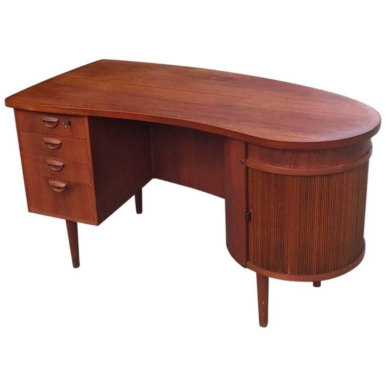 Teak Office Desk by Kai Kristiansen, Denmark 1960s