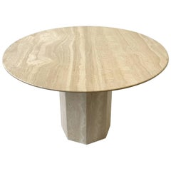 Italian Traverine Dining Table