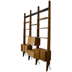 Shelving System or Room Divider attributed to Dassi, Italy 1950s