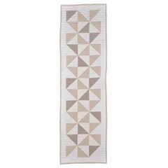 Bed Runner Quilt Blanket Vintage Irish Linen Patchwork Handmade