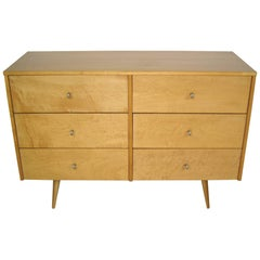 1950s Mid Century Modern Paul McCobb for Planner Group Six-Drawer Dresser