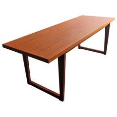 Scandinavian modern teak sofa table