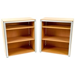 Pair of Arne Jacobsen DJOB Beech Bookcases