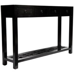 Four-Drawer Chinese Console Table