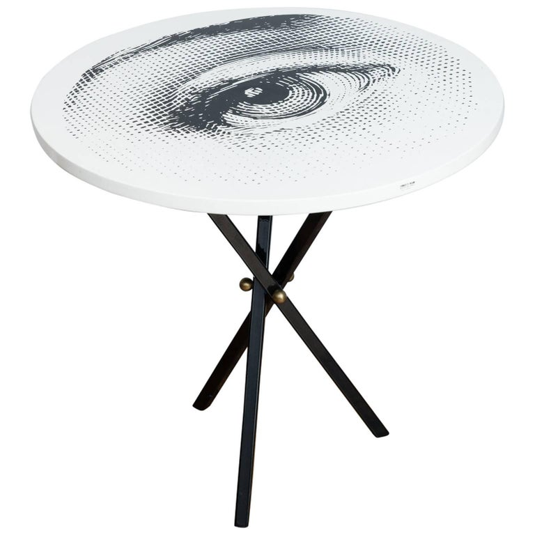 Piero Fornasetti Side Table Occio, Italy, 2006 For Sale