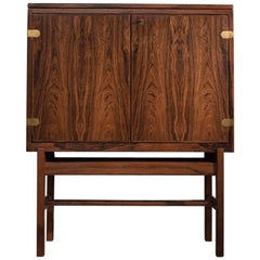 Illuminated Danish Bar Cabinet in Rosewood, Denmark, 1960s