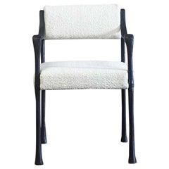 Giac Side/Dining Chair w/ Aluminum Hand-Patinated Frame Contemporary Seating COM