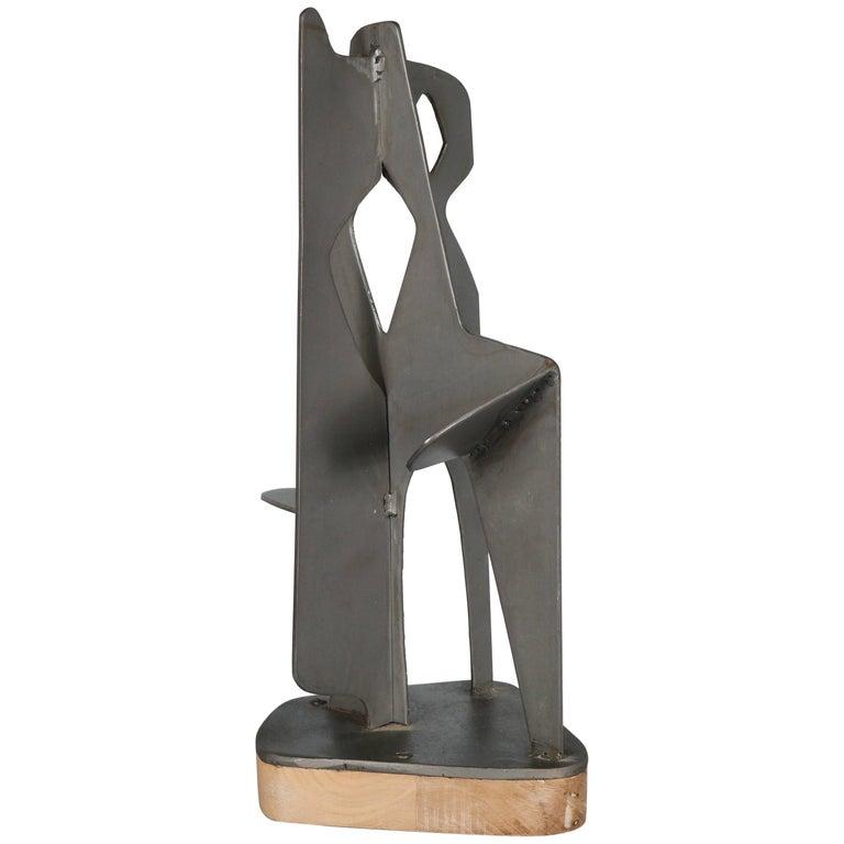 Modernist Abstract Steel Sculpture