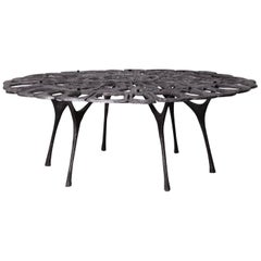 Cast Aluminum Coffee Table by Donald Drumm