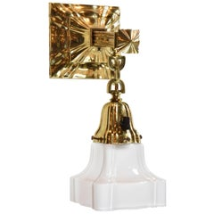 Brass Sheffield Sconce with Shade