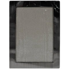 American Modern Sterling Silver Pinstriped Picture Frame