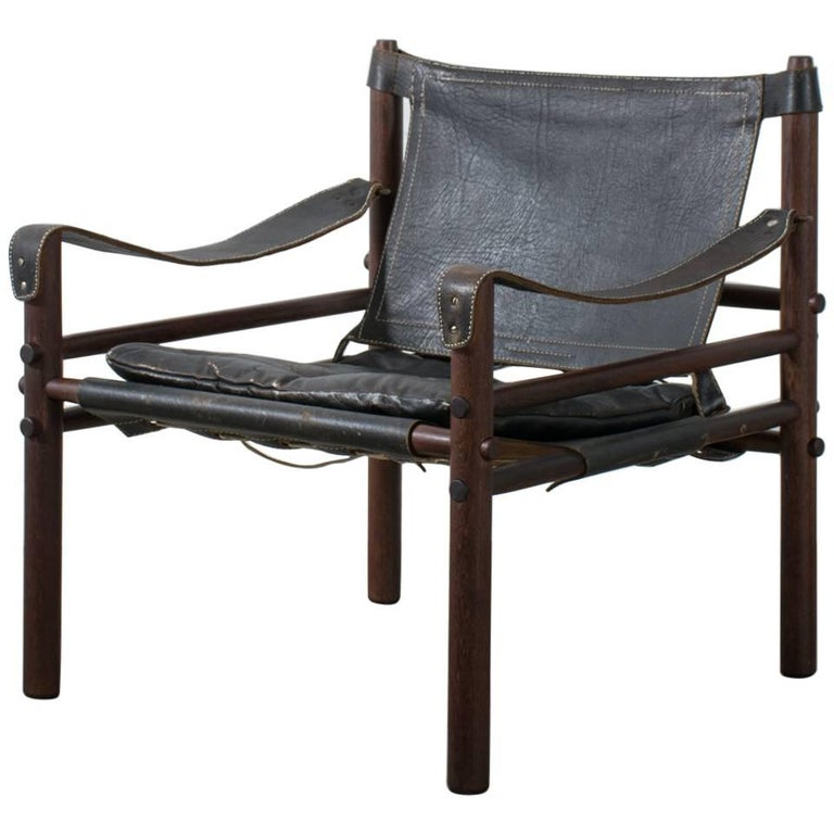 Arne Norell Vintage Midcentury 'Sirocco' Safari Chair