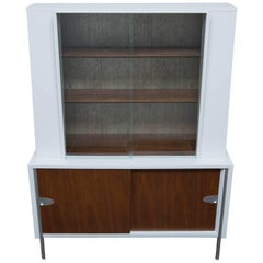 Lacquered Walnut Display Cabinet By Mengel Furniture
