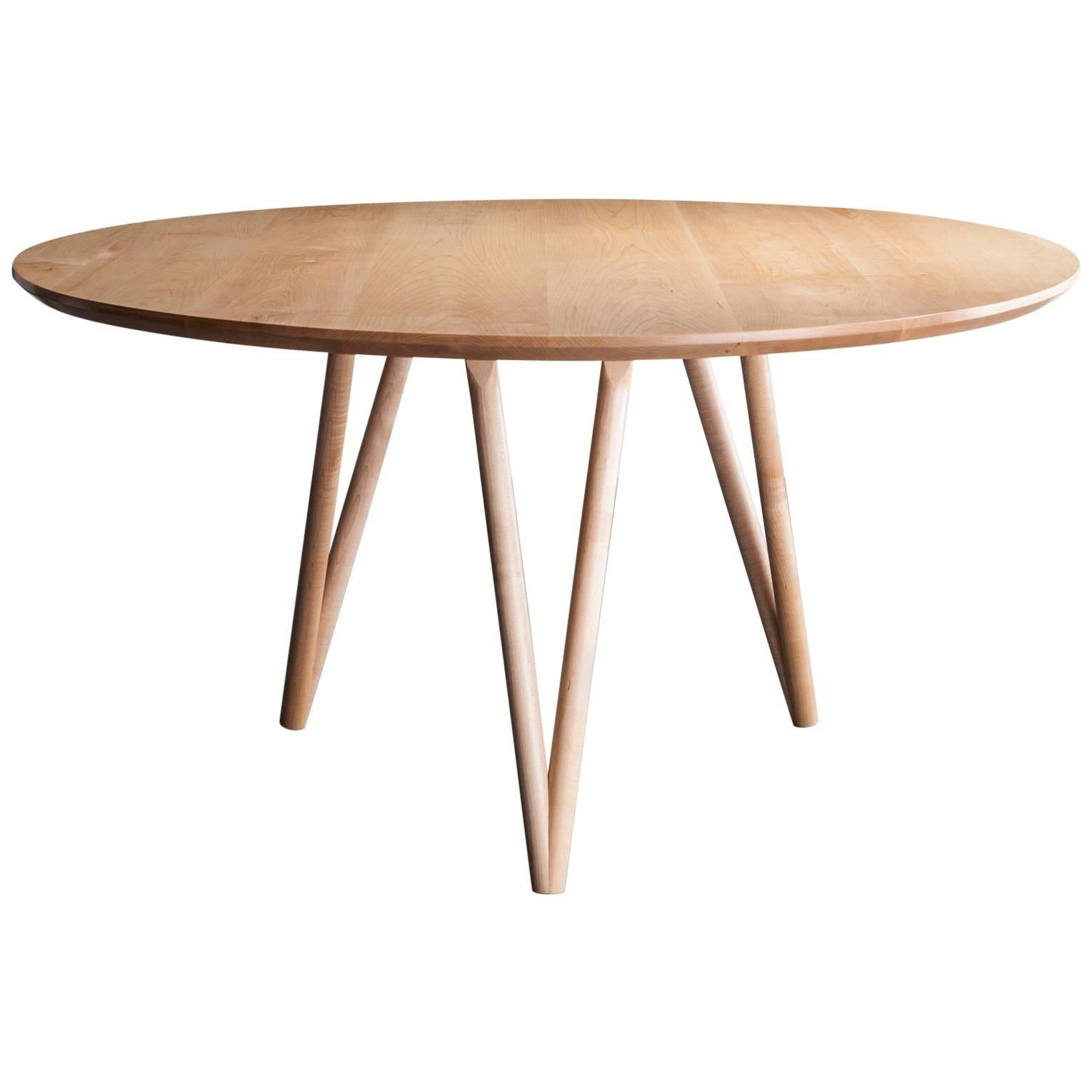 Hairpin Dining Table, Solid Hardwood, Available in Made to Measure. Made in USA