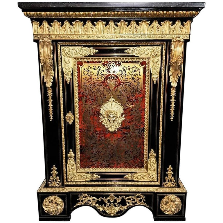 Boulle  Marquetry Cabinet, France 18th Century For Sale