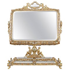 19th Century Viennese Rock Crystal and Silver Gilt Mirror
