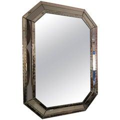 Oversized Venetian Octagonal Hand-Etched Mirror