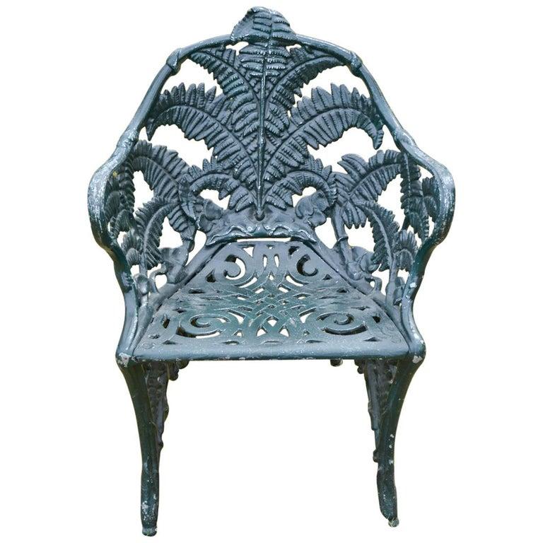 19th Century Cast-Iron Fern Chair