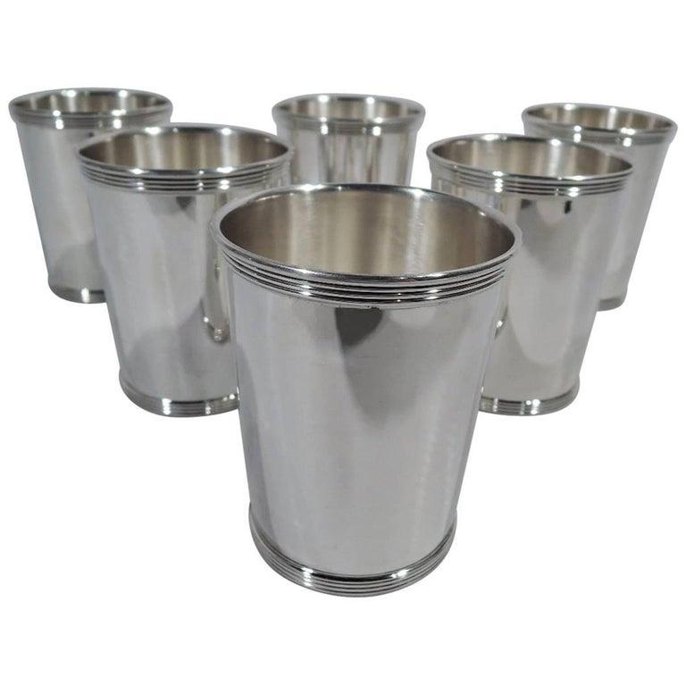 Set of Six Gorham Newport Sterling Silver Mint Julep Cups