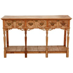 Spanish Baroque Style Pine Console Table or Server