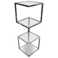 Milo Baughman Chrome Sculptural Tower Etagere