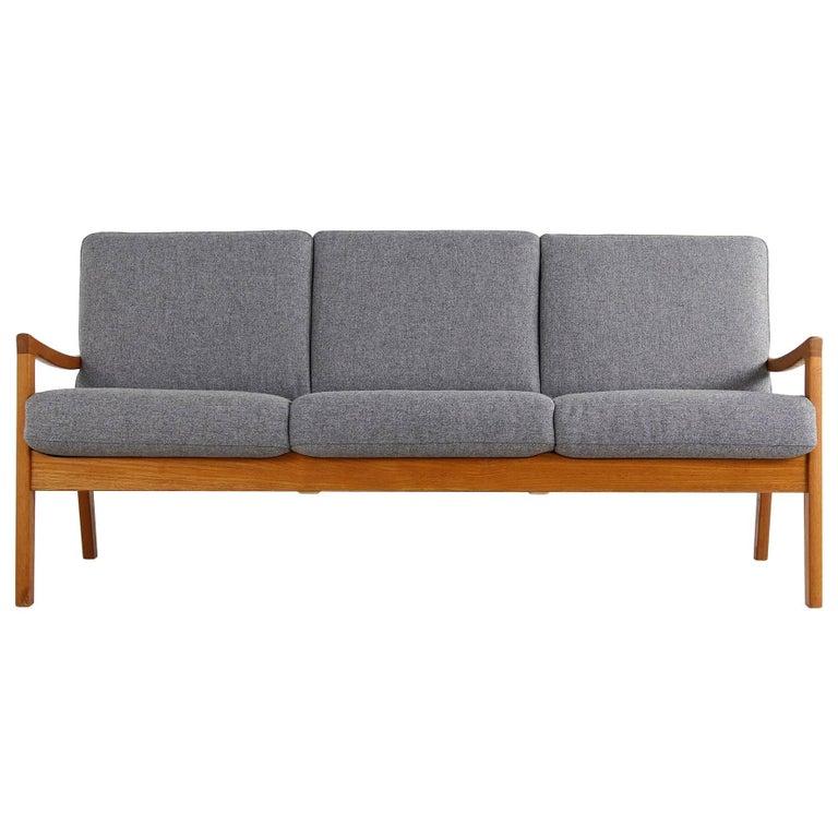 1960s Danish Modern Teak Sofa by Ole Wanscher for Poul Jeppesen Denmark