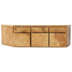 Mid-Century Two-Piece Lacquered Parchment Credenza
