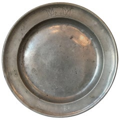 18th Century Pewter Plate