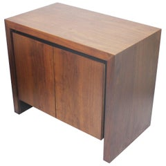 Vintage 1970's Mid-Century Modern Dillingham Esprit Walnut Night Stand End Table