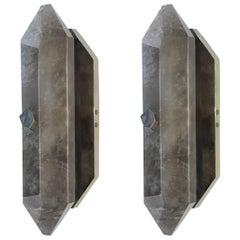 SDF Rock Crystal Quartz Sconces By Phoenix